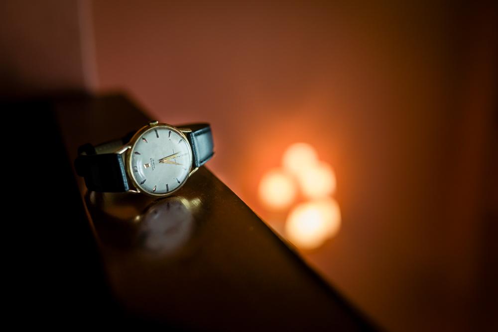 reloj del novio, preparativos