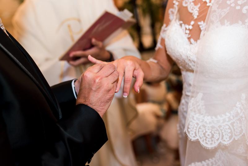 Alianzas de boda, Protocolo para actuar en la Iglesia